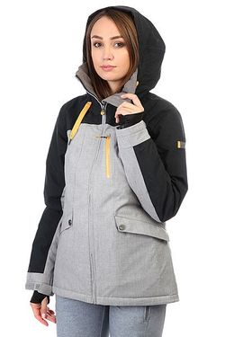 Куртка Wildlife Mid Heather Roxy                                                                                                              чёрный цвет
