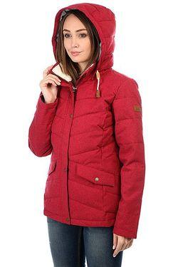 Куртка Зимняя Женская Nancy Rhododendron Roxy                                                                                                              красный цвет