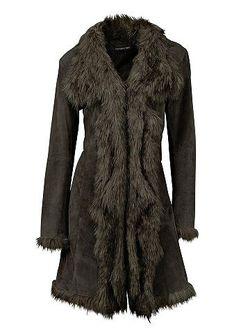 Кожаное Пальто Из Свиной Замши Patrizia Dini                                                                                                              None цвет