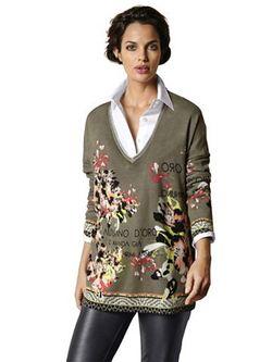 Пуловер С V-Образным Вырезом ALBA MODA GREEN                                                                                                              None цвет