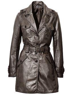 Кожаное Пальто Ashley Brooke                                                                                                              None цвет