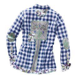 Блузка В Клеточку ALBA MODA GREEN                                                                                                              None цвет
