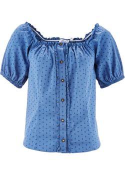 Блузка В Традиционном Стиле bonprix                                                                                                              розовый цвет