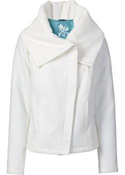 Короткое Пальто bonprix                                                                                                              Цвет Белой Шерсти цвет