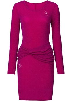 Трикотажное Платье bonprix                                                                                                              Цвет Фуксии/Лиловый цвет