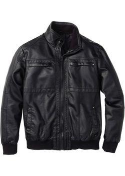 Куртка Из Искусственной Кожи bonprix                                                                                                              чёрный цвет