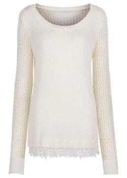 Пуловер С Кружевом bonprix                                                                                                              чёрный цвет