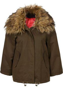 Куртка С Воротником Из Искусственного Меха bonprix                                                                                                              чёрный цвет