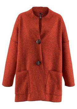 Флисовая Куртка bonprix                                                                                                              оранжевый цвет