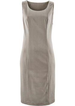 Платье-Футляр В Узкую Полоску bonprix                                                                                                              серый цвет