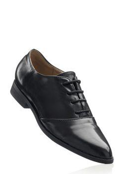 Туфли На Шнурках bonprix                                                                                                              чёрный цвет