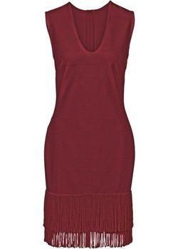 Платье С Бахромой bonprix                                                                                                              Гранатовый цвет