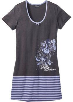Ночная Рубашка bonprix                                                                                                              серый цвет