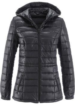Легкая Стеганая Куртка С Капюшоном И Мешком bonprix                                                                                                              чёрный цвет
