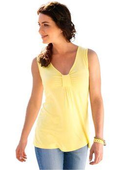 Однотонная Трикотажная Туника bonprix                                                                                                              желтый цвет