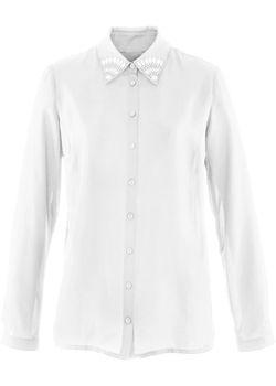 Шифоновая Блузка Премиум bonprix                                                                                                              Цвет Белой Шерсти цвет