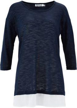 Пуловер 2 В 1 Из Пряжи Фламе bonprix                                                                                                              Нежная Мята цвет