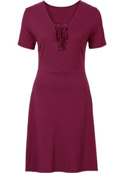 Платье Со Шнуровкой В Области Выреза bonprix                                                                                                              красный цвет