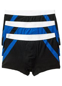 Боксёры-Брифы 3 Шт. bonprix                                                                                                              чёрный цвет