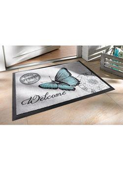 Коврик Для Двери Бабочка bonprix                                                                                                              серый цвет