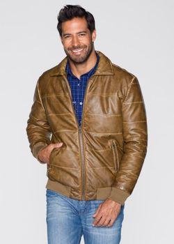 Куртка Regular Fit Из Искусственной Кожи bonprix                                                                                                              Коньячный цвет