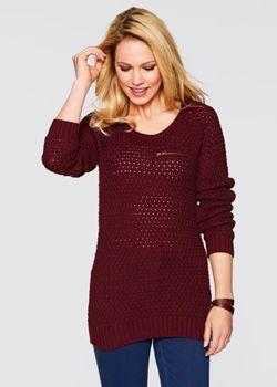Пуловер С Карманом На Груди bonprix                                                                                                              чёрный цвет