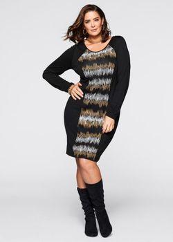Трикотажное Платье bonprix                                                                                                              черный цвет