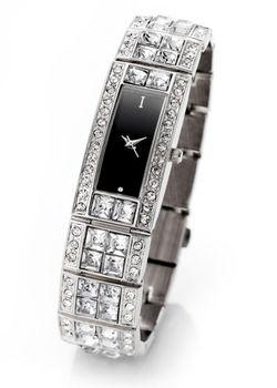 Часы На Сверкающем Металлическом Браслете Со Стразами bonprix                                                                                                              серебристый цвет