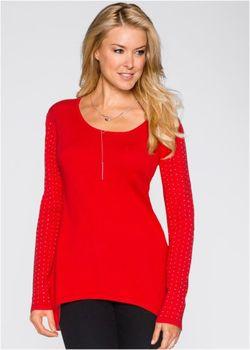 Пуловер С Удлиненной Задней Частью И Длинным bonprix                                                                                                              Цвет Белой Шерсти цвет