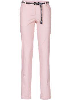 Легкие Брюки-Стретч С Плетеным Ремнем bonprix                                                                                                              розовый цвет