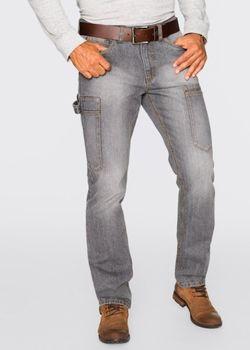 Джинсы-Карго Regular Fit Straight Cредний Рост N bonprix                                                                                                              серый цвет