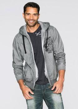 Трикотажная Куртка Slim Fit bonprix                                                                                                              серый цвет