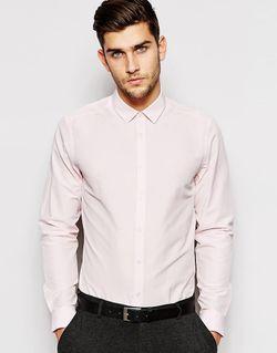Строгая Рубашка С Длинными Рукавами Asos                                                                                                              розовый цвет