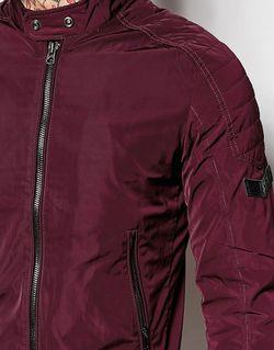 Легкая Нейлоновая Байкерская Куртка J-Eiko Diesel                                                                                                              Burgundy цвет