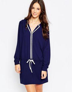 Платье-Рубашка Curiouser And Curiouser Темно-Синий Traffic People                                                                                                              синий цвет