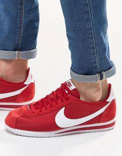 Нейлоновые Кроссовки Classic Cortez 807472-611 Красный Nike                                                                                                              красный цвет