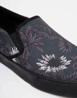 Кеды-Слипоны С Принтом Asos                                                                                                              серый цвет