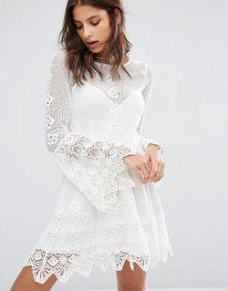 Платье Миди С Открытой Спинкой Everlasting Romantic Jen's Pirate Booty                                                                                                              белый цвет