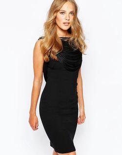 Платье С Бахромой Сзади Clapton Черный Ba&Sh                                                                                                              чёрный цвет