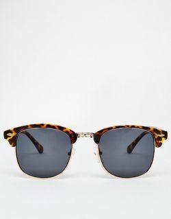 Классические Солнцезащитные Очки В Стиле Ретро Asos                                                                                                              коричневый цвет