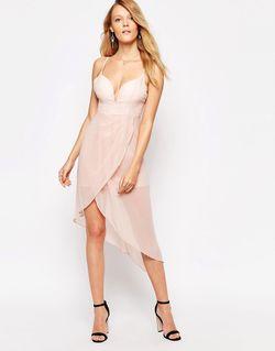 Платье На Бретельках С Драпировкой Светло-Розовый Glamorous                                                                                                              розовый цвет