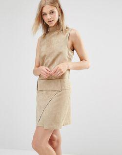 Платье Мини Из Искусственной Замши С Заниженной Shades of Grey                                                                                                              Кэмел Замшевый цвет