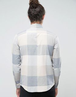 Серая Рубашка Узкого Кроя Из Поплина В Hollister                                                                                                              None цвет