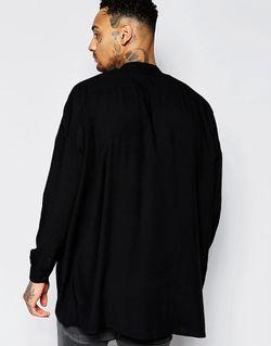 Oversize-Рубашка С Заниженными Плечевыми Швами И Воротником Asos                                                                                                              чёрный цвет