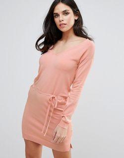 Розовое Платье С Поясом На Талии Lavand Lavand.                                                                                                              розовый цвет