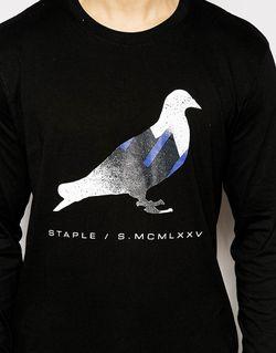 Лонгслив Pigeon Staple                                                                                                              Черный цвет