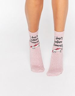 Носки С Единорогом I Dont Believe In Asos                                                                                                              розовый цвет