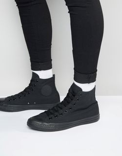 Высокие Кеды All Star Converse                                                                                                              чёрный цвет