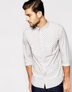 Рубашка Узкого Кроя С Принтом Серый Paul Smith Jeans                                                                                                              серый цвет