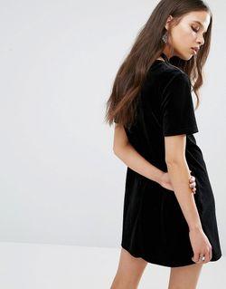 Бархатное Цельнокройное Платье С Вырезом Капелькой И Glamorous Petite                                                                                                              None цвет